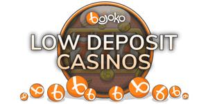 Low minimum deposit casinos for Canadians