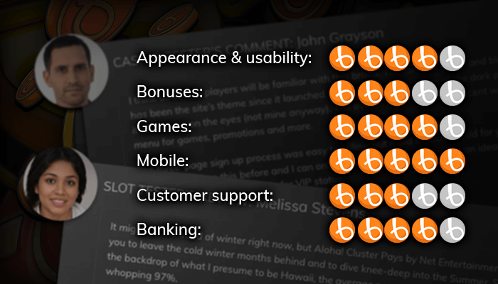 Read the reviews written by our casino experts
