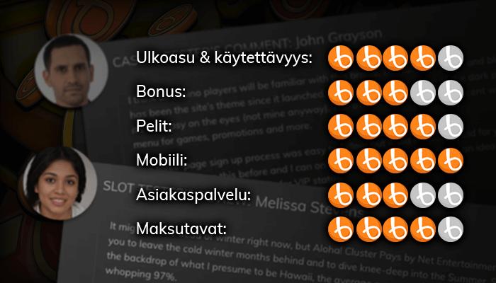 Lue kokemuksia suomalaisista nettikasinoista.