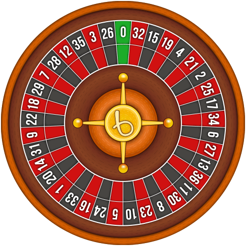 European roulette wheel layout