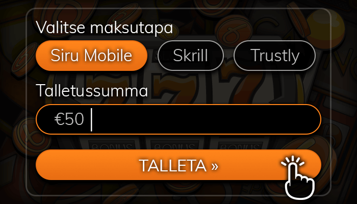 Tee Siru Mobile -talletus.