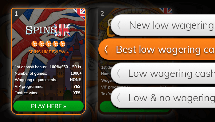 Find a low wagering casino from our list
