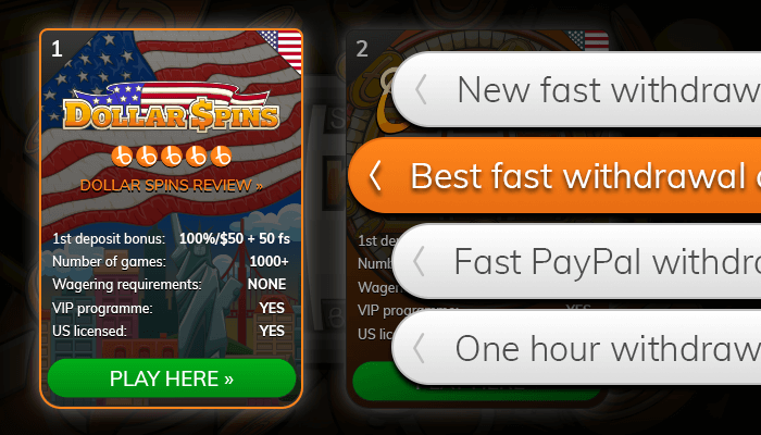 Find a fast withdrawal casino from our list