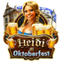 Heidi at the Oktoberfest logo