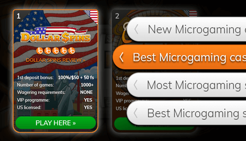 Find a Microgaming online casino from our list