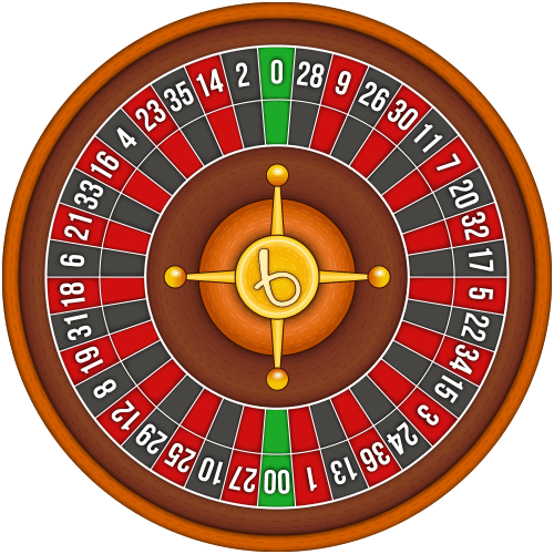 American roulette wheel layout
