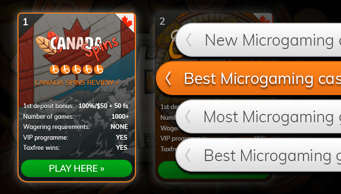 Find a Microgaming casino from our list