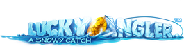 Lucky Angler: A Snowy Catch logo