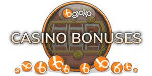 Online casino bonuses are listed on Bojoko