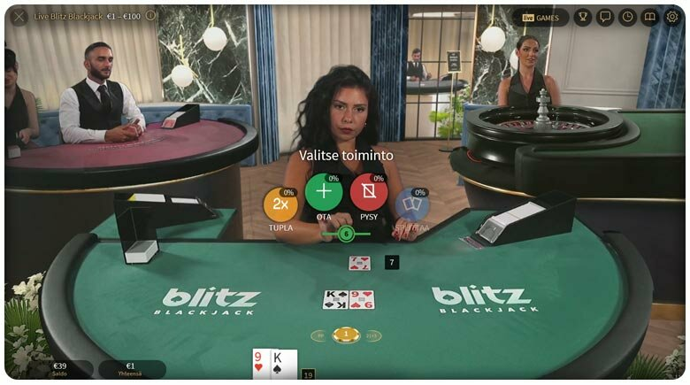 NetEnt blackjack blitz