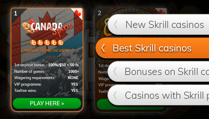 Find a Skrill casino from our list
