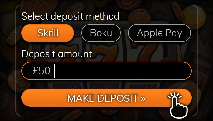 Deposit online using Skrill