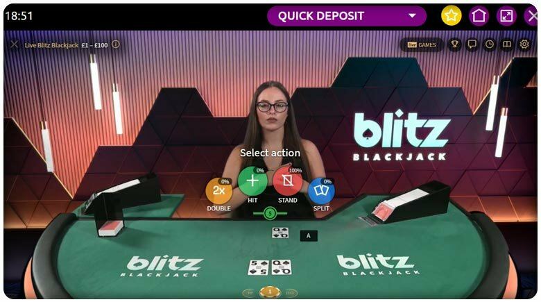 Blackjack blitz NetEnt