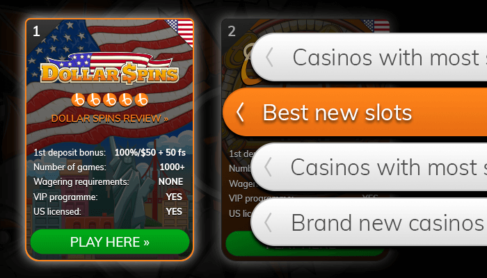Find a casino with new slots from our list