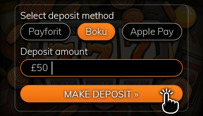 Deposit online using Boku