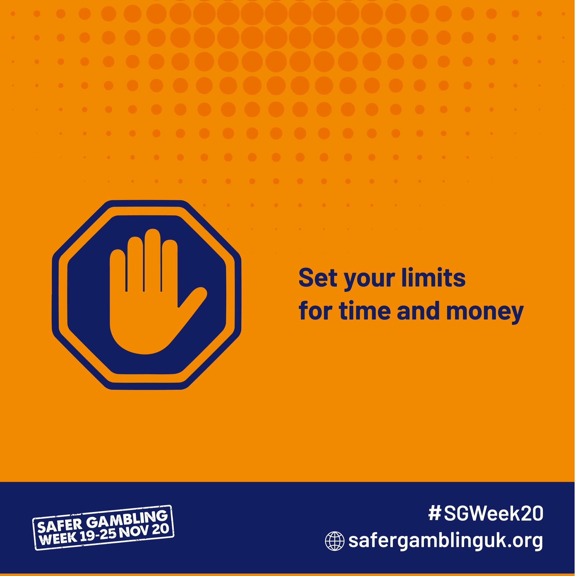 Safer Gambling Week 2020 - Set your limits for time and money