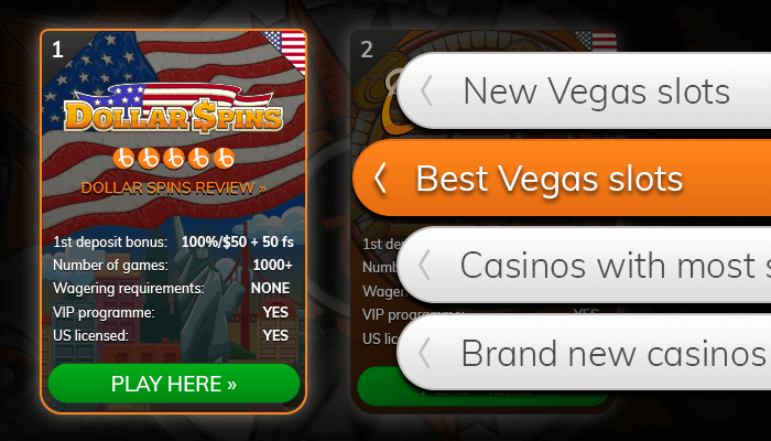 Find a Vegas online slots casino from our list
