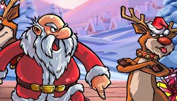 Santa vs Rudolf kansi